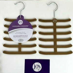 2 Joy Mangano Huggable Hangers - Belt and Tie